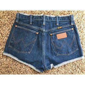 Urban Renewal Wrangler cut-off shorts
